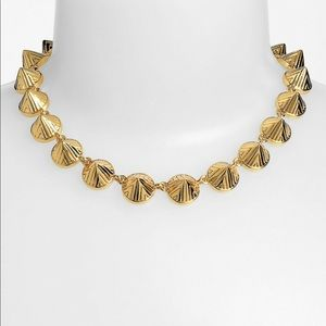 Vince Camuto tribal fusion gold tone necklace NWT